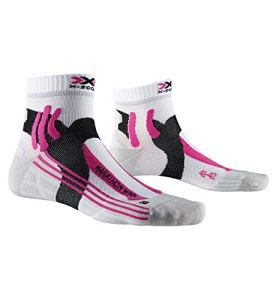 X-SOCKS Run Speed One Chaussette Mixte Adulte, Blanc (Arctic White/Pearl Grey), M (Taille Fabricant : 37-38)