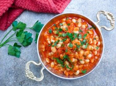 Hvite bønner i tomatsaus