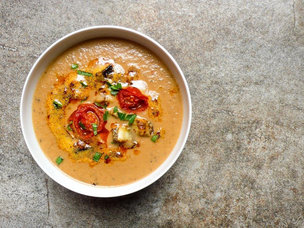 aubergine suppe