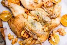 Helstekt kylling med oliven og sitrus - oppskrift / Et kjøkken i Istanbul