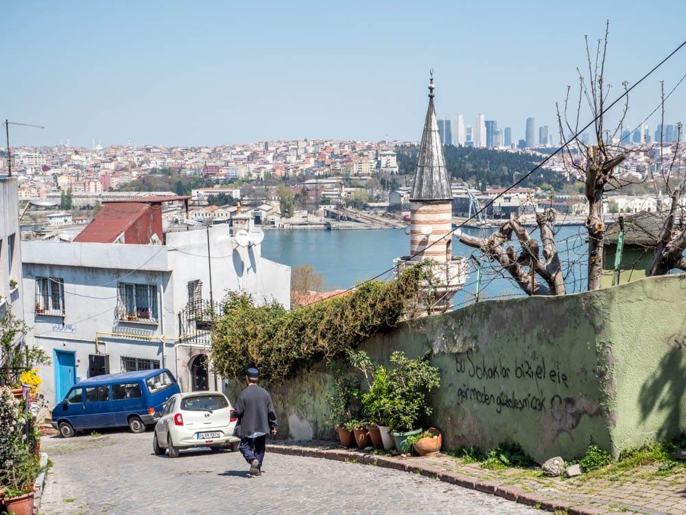 Utsikt mot Det gylne horn fra Balat, Istanbul