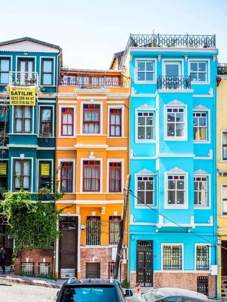 Fargerike hus i Balat, Istanbul