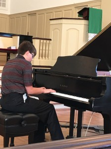 "TRACE BRIMER, STUDENT OF SUZANNE SOLUM, PLAYS ""THE STORM"" by BURGMULLER."