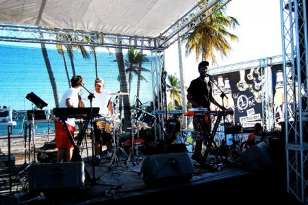 Playing at Juanillo Beach in Dominican Republic
