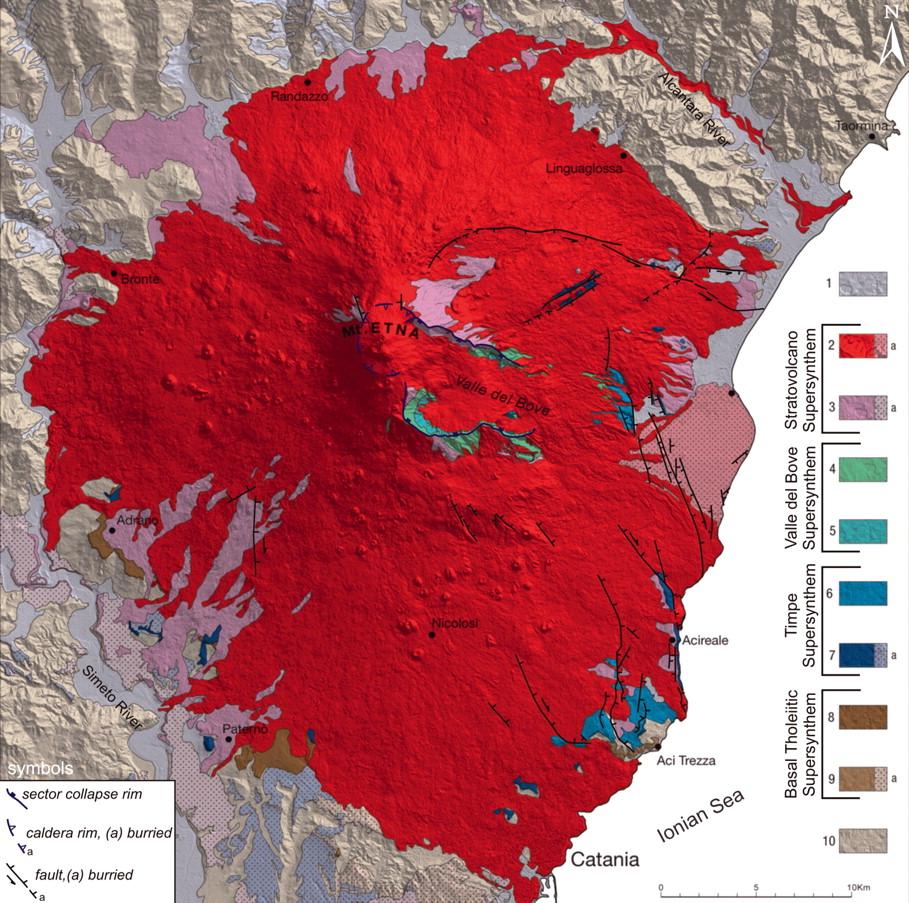 Volcanological map of Etna