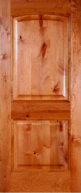 Knotty Alder 2 Panel Arched Door ETO Doors