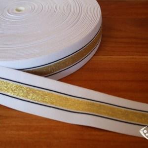 Élastique pour boxer couleur blanc doré
