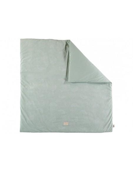 tapis de jeu colorado 100x100 cm vert white bubble aqua