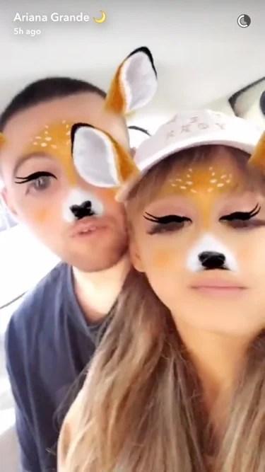 And Ariana 2017 Snapchat Grande Mac Miller
