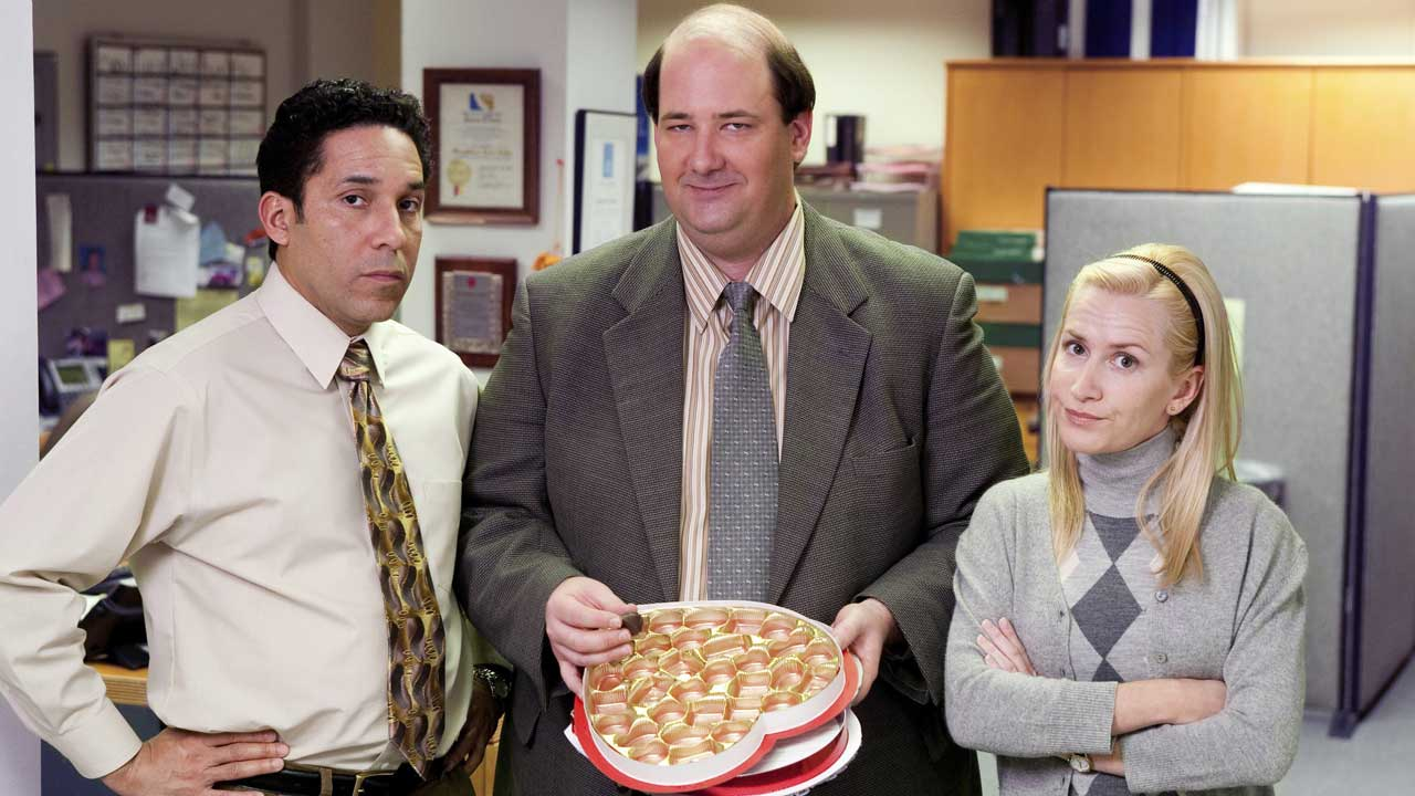 Angela Kinsey, Oscar Nuñez and Brian Baumgartner on NBC's 'The Office'