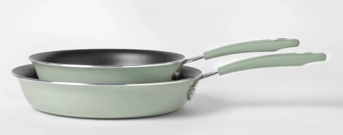 2-Pack Aluminum Frying Pan Set