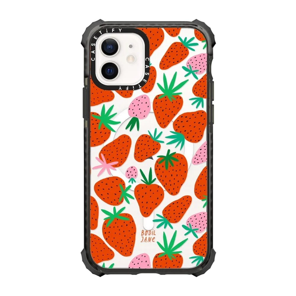 Strawberries case by Bodil Jane