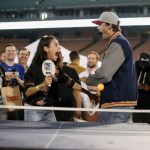 Ashton Kutcher and Mila Kunis on a Sporty date