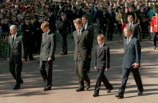 The funeral of Princess Diana
