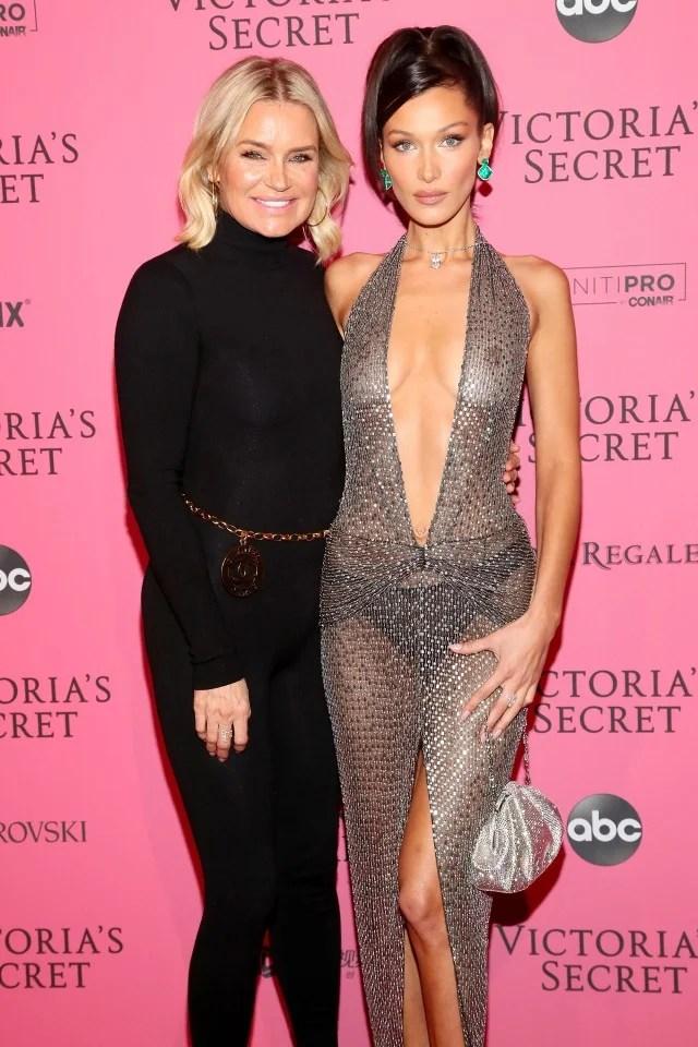 Yolanda and Bella Hadid at Victoria's Secret After Party