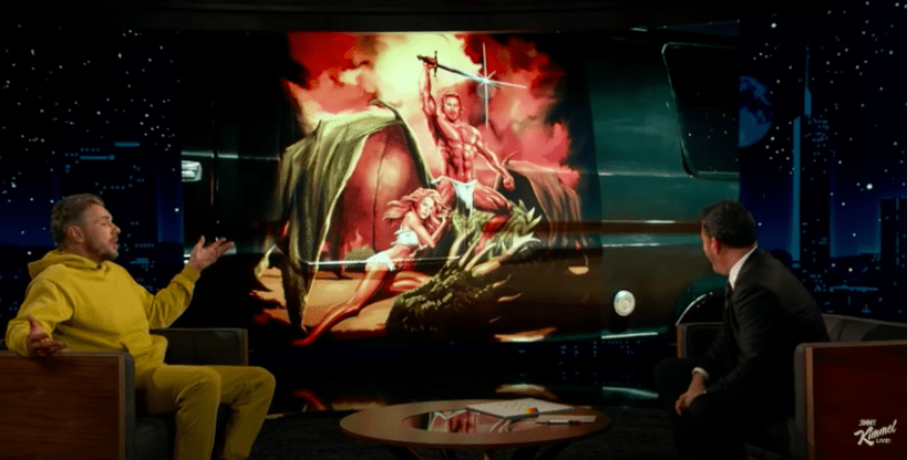 Dax Shepard shows his mural