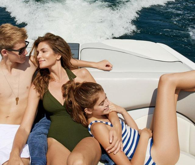 Cindy Crawford Stuns In Bathing Suit At 49 Alongside Her Gorgeous Kids See The Pics Entertainment Tonight