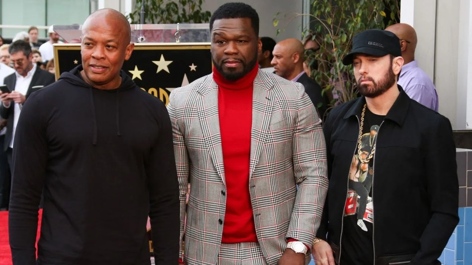 Eminem and Dr. Dre Show Their Support for 50 Cent at His Walk of ...