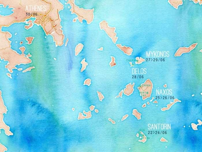 Naxos 2015, Carte Cyclades ©Etpourtantelletourne.fr