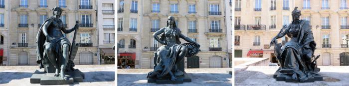 Statues continents, Paris expositions universelles 2015 ©Etpourtantelletourne.fr