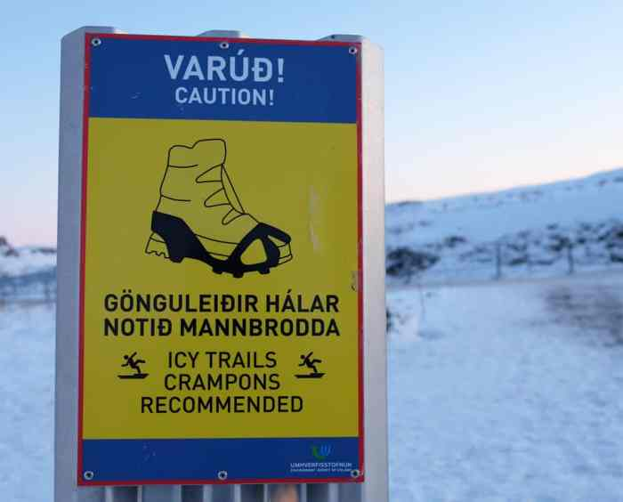 Islande en hiver s'équiper vêtements crampons ©Etpourtantelletourne.fr