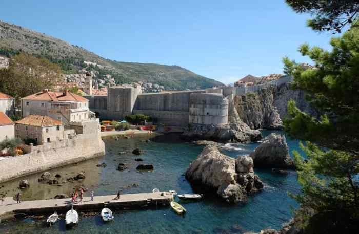 Vue depuis le Fort Lovrijenac à Dubrovnik ©Etpourtantelletourne.fr