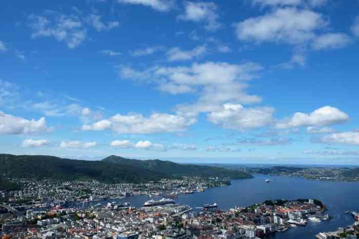 Vue panoramique sur Bergen depuis le Mont Floyen ©Etpourtantelletourne.fr