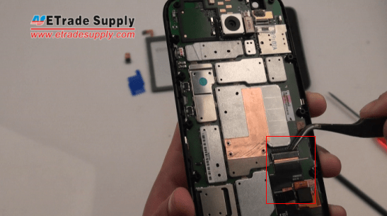 Disconnect the Moto G screen connector