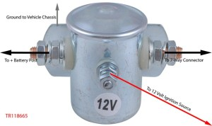 How to wire the Tow Ready Battery Isolation Solenoid # TR118665 and what Size Wire to Use