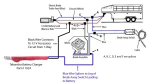 How is Tekonsha Break Away Battery Charger # 1024 Wired