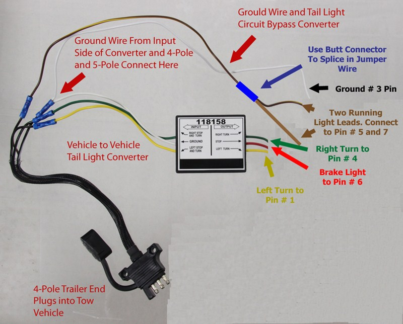 4 prong trailer connector wiring diagram for trailer light connector pinout pinout 7 pin trailer wiring  trailer light connector pinout pinout