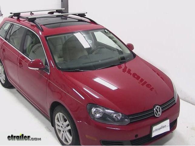 thule aeroblade crossroad roof rack installation 2011 volkswagen jetta sportwagen