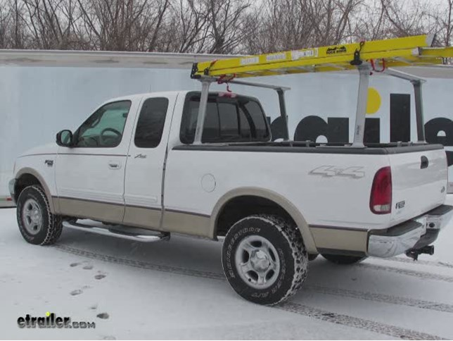 tracrac tracone truck bed ladder rack installation 2000 ford f 150