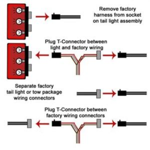 TOne Vehicle Wiring Harness with 4Pole Flat Trailer