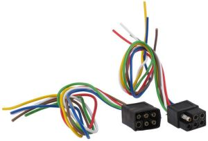 6Pole Square Trailer Wiring Connector Kit (Car and
