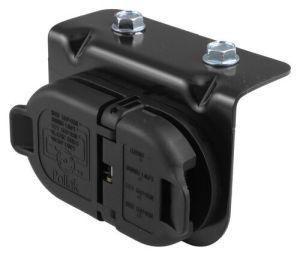 7 and 4Pole Trailer Connector Socket w Mounting Bracket, ChryslerDodge OEM Plug Adapter