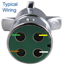 How to Wire 4Way Round Pin Trailer Wiring Connector