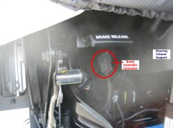 Location of Brake Controller Connector 2016 Ford F53