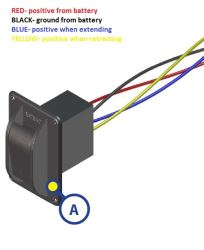 Wire Color Diagram for Replacement Electric Jack Switch