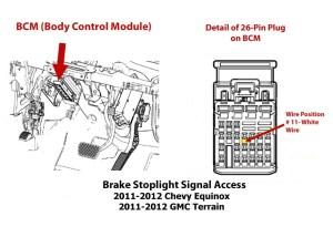 Obtaining Brake Stoplight Switch Signal for Brake