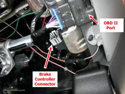 Location of Brake Controller Connector on 2005 Ford F150 | etrailer
