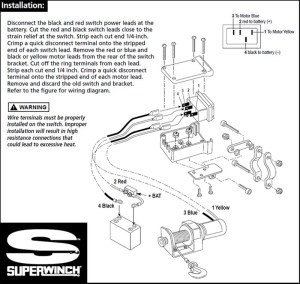 Replacement Switch For Older Model Superwinch Electric