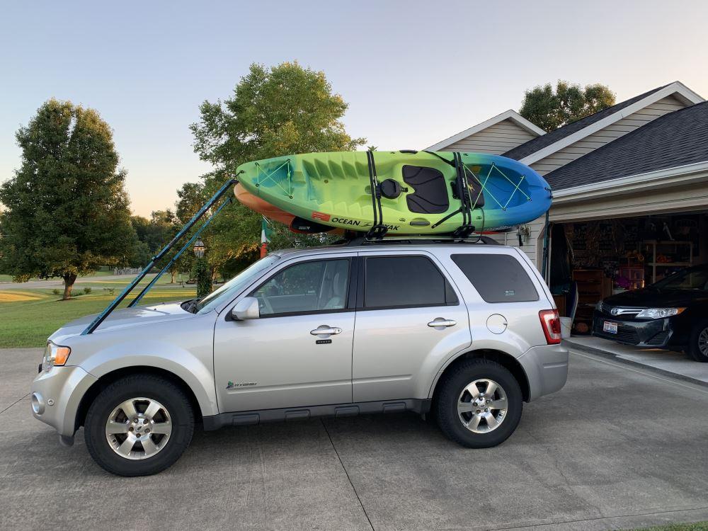 automotive rhino roof rack kc fk8 kayak
