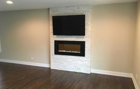 Mounting TV Above Gas Fireplace-Etronics of Illinois