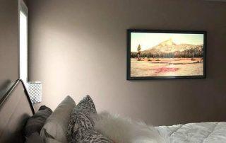 TV wall mount installation