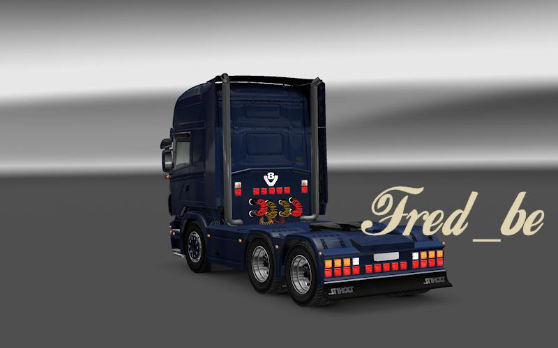 BACKLIGHTS FOR SCANIA R2008 BY MATDOM 116X ETS2 Euro