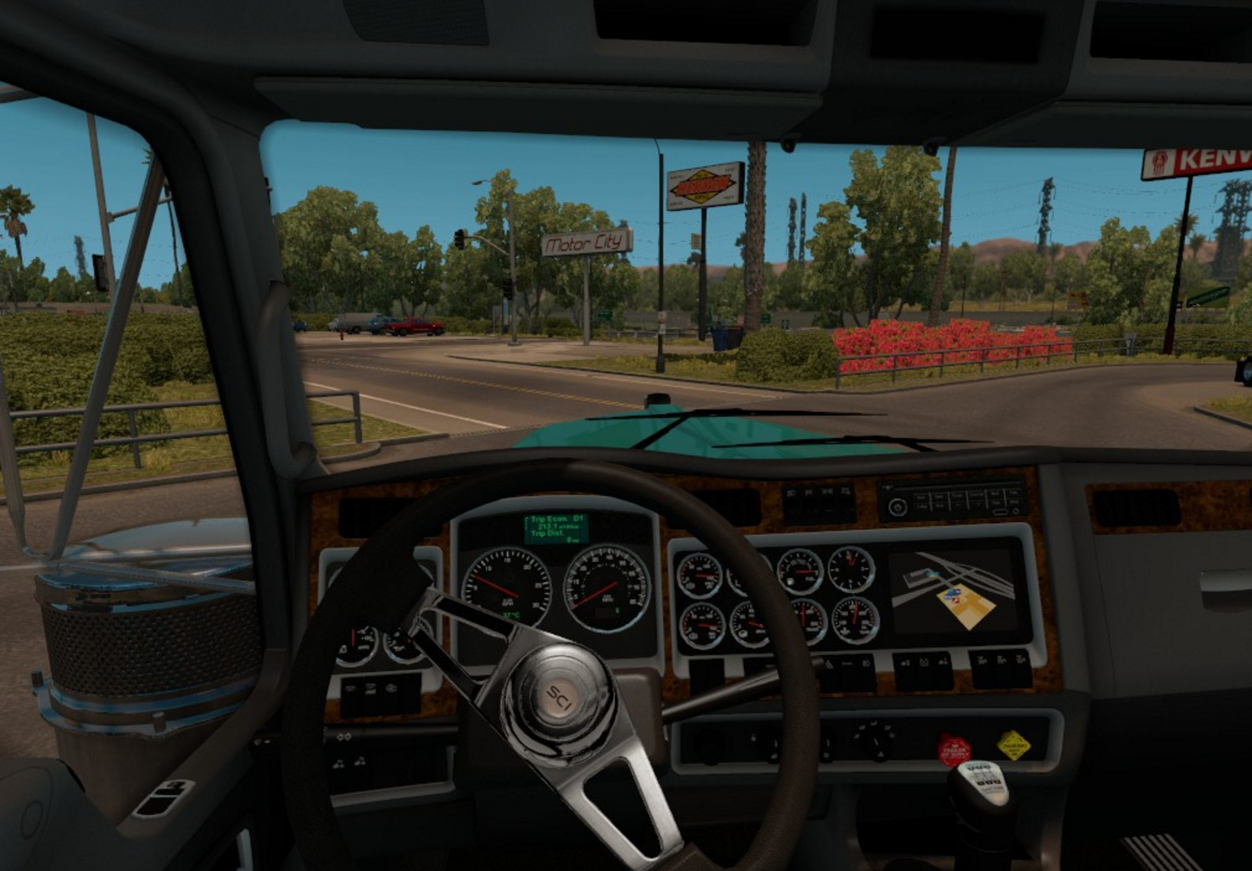 Shift Knob For Kenworth W900 In Interior ATS Euro Truck