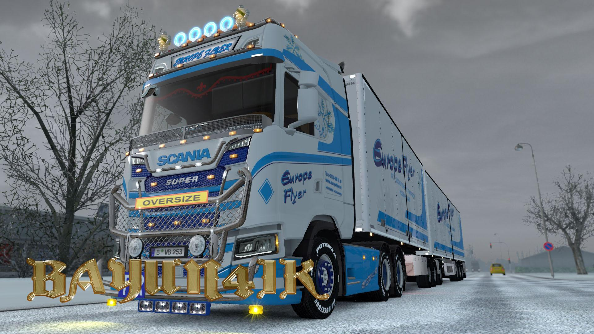 SCANIA S 2016 SCS EUROPE FLYER TRUCK SKIN PACK 130 Euro
