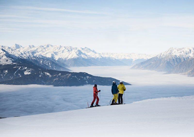 Skifahrer in meran 2000
