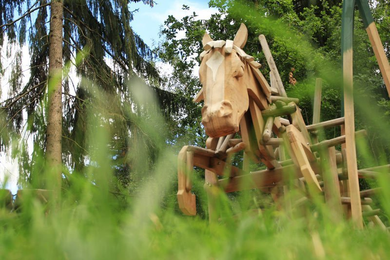 percorso avventura di meltina köfele con cavallo haflinger